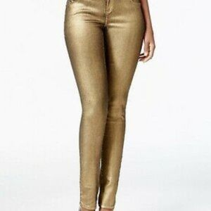 INC Denim gold skinny leg Pants 8